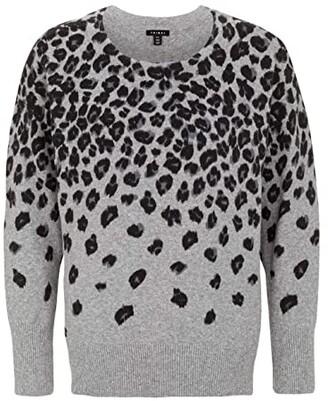 Tribal Long Sleeve Animal Sweater (Grey Mix) Women's Sweater