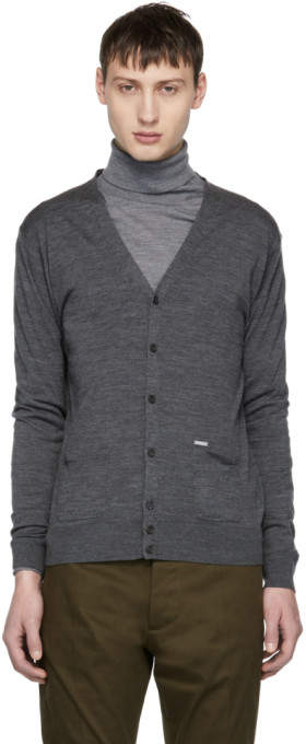 DSQUARED2 Grey Wool Cardigan