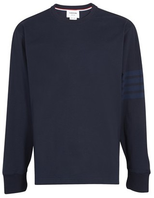 Thom Browne 4-Bar long sleeved t-shirt