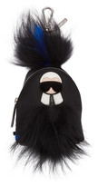 Fendi Black Mini Karlito Backpack Keychain