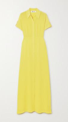 Diane von Furstenberg Georgia Silk Crepe De Chine Maxi Dress - Yellow