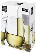 Libbey Set of Four Stemless White Wine Glasses