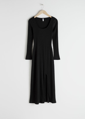 And other stories Side Slit Midi Dress