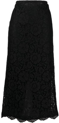 Valentino Lace Mid-Length Skirt