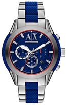 Armani Exchange Stainless Steel And Blue Bracelet Watch Ax1386
