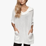 James Perse Knit Mesh Hooded Pullover