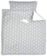 BabyCentre Baby Boum 80 x 80cm 100% Cotton Appliqu?d Cradle Duvet Set (Gimik Cherub Collection, Neutral)