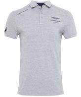 Hackett Slim Fit Aston Martin Racing Contrast Hem Polo Shirt