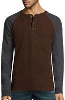 ST. JOHN'S BAY St. John's Bay Long-Sleeve Baseball Henley Shirt