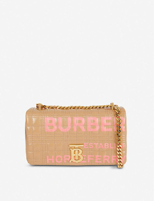 Burberry Lola small logo-print quilted leather shoulder bag