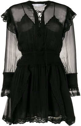 IRO Sheer Panel Mini Dress