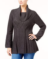 Style&Co. Style & Co Petite Cowl-Neck Tunic Sweater, Created for Macy's