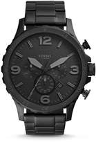 Fossil Nate Chronograph Black Stainless Steel Watch