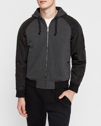 Express Reversible Hooded Fleece Bomber Jacket