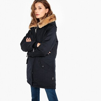 Schott Jkt Heat2W Mid-Length Parka with Faux Fur