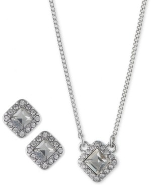 """Givenchy 2-Pc. Set Crystal Earrings and Pendant Necklace, 16"""" + 3"""" extender"""