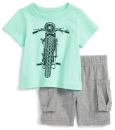 Tea Collection Infant Boy's Throttle T-Shirt & Shorts Set