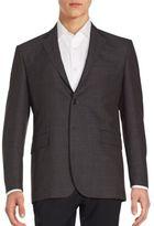 Saint Laurent Two-Button Long Sleeve Wool Jacket