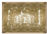 Oliver Gal Taj Mahal Wall Art