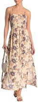 Angie Printed Smocked Bodice Maxi Dress