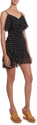 Balmain Ruffled Polka-Dot Dress