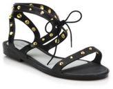 Melissa Studded Lace-Up Plastic Sandals