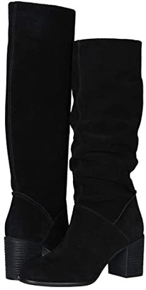 Frye AND CO. Phoebe Slouch Tall (Black Suede) Women's Boots