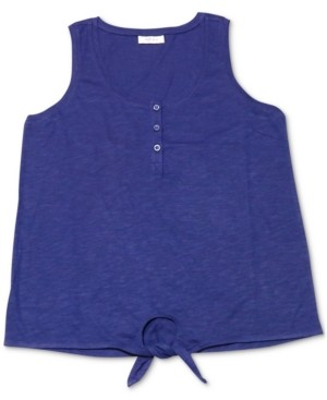 Style&Co. Style & Co Petite Henley Tank Top, Created for Macy's