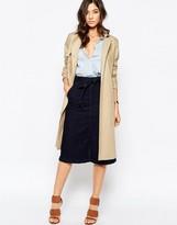 Warehouse Denim Tie Waist Skirt