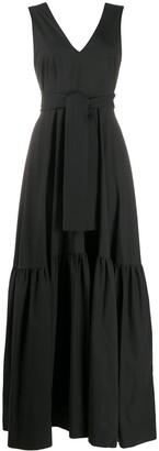 P.A.R.O.S.H. Flared Sleeveless Maxi Dress
