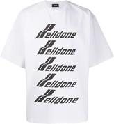 we11done oversized logo-print T-shirt