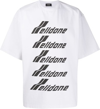 we11done oversized logo-print T-shirt