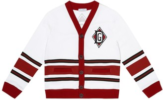Dolce & Gabbana Kids Striped cotton-jersey cardigan