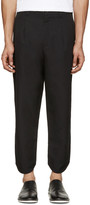 Alexandre Plokhov Black Curved Cuff Trousers