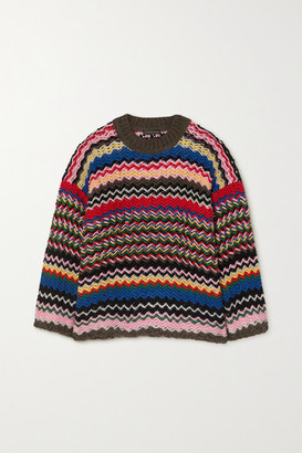 Stine Goya Rebeka Striped Knitted Sweater - Blue