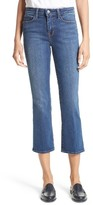 L'Agence Women's Crop Baby Flare Jeans