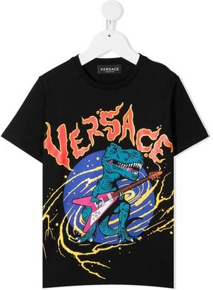 Versace Dinosaur logo-print T-Shirt