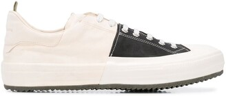 Officine Creative Two-Tone Lace-Up Sneakers