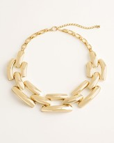 Chico's Chicos Goldtone Link Bib Necklace