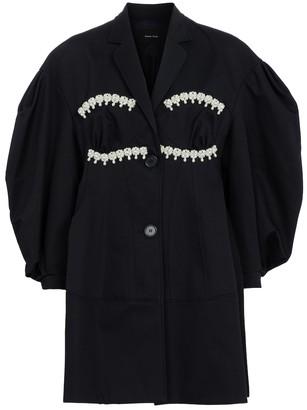 Simone Rocha Faux pearl-embellished cotton coat