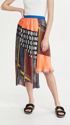 Kolor Mixed Print Skirt