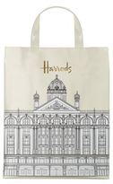 Harrods Medium Illustrated Building Shopper Bag