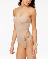 Kenneth Cole Reaction Sexy Solids Strappy-Side Tummy Control One-Piece Swimsuit