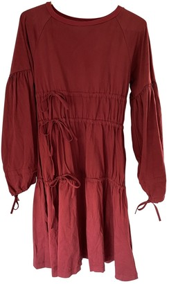 Maison Margiela Burgundy Cotton Dresses
