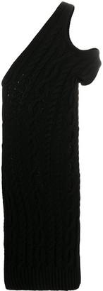 Telfar Cable Knit Off-Shoulder Dress