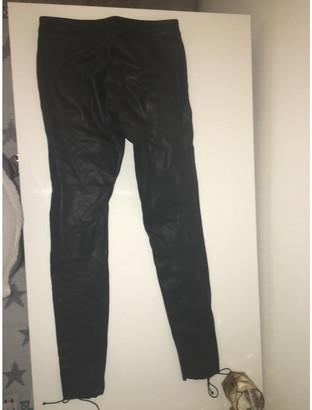 Zoe Karssen Black Leather Trousers