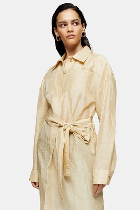 Topshop Womens **Sand Linen Blend Trench Dress By Sand