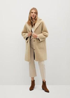 MANGO Reversible faux shearling-lined coat