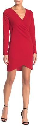 FAVLUX Faux Wrap High/Low Bodycon Dress