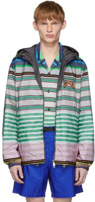 Prada Reversible Multicolor Striped Nylon Jacket